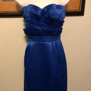 Calvin Klein Royal Blue Satin Dress